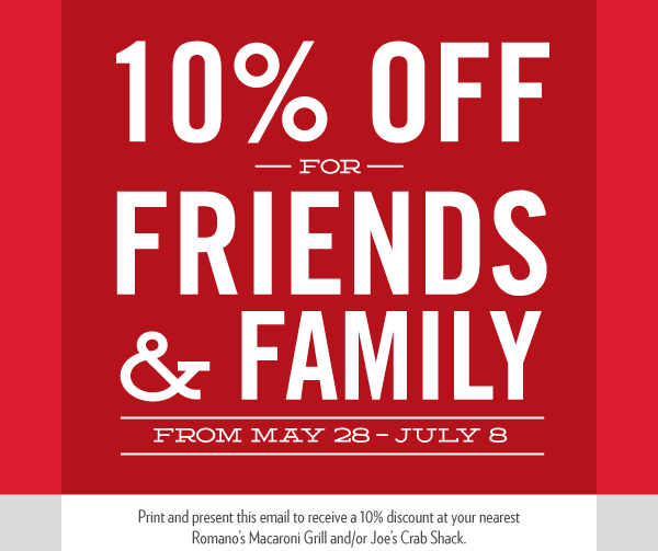 ==== ENJOY 10% OFF FOR FRIENDS & FAMILY ====